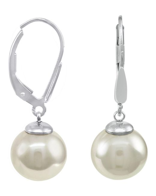 Majorica | Metallic Sterling Silver Earrings, Imitation Pearl | Lyst