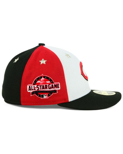 newest d935c 0d026 ... buy ktz multicolor cincinnati reds all star game patch low profile  59fifty fitted cap 2018 for