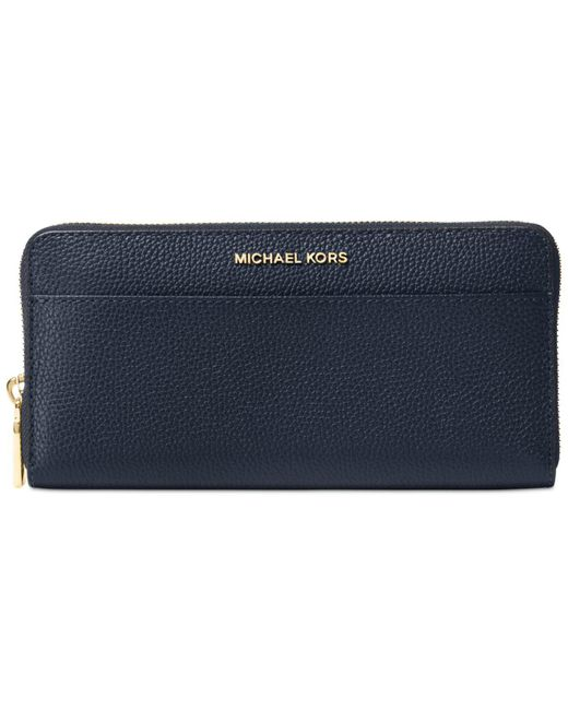 Michael Kors | Blue Studio Mercer Zip-around Continental Wallet | Lyst