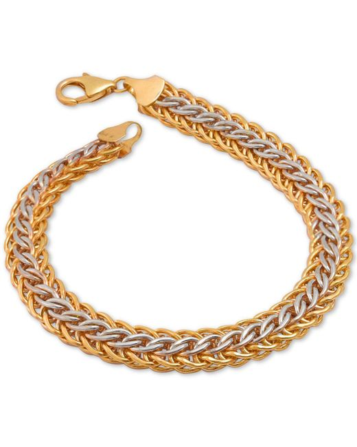 Macy's - Metallic Mesh Bracelet In 14k Gold Over Sterling Silver And Sterling Silver - Lyst