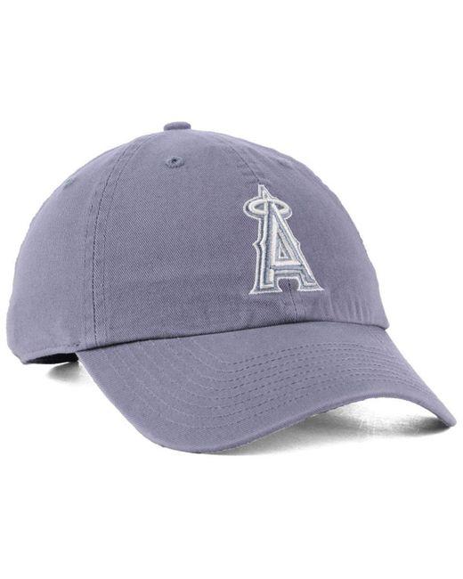 wholesale dealer 9da2c bf84f ... promo code for 47 brand los angeles angels dark gray clean up cap for  men lyst