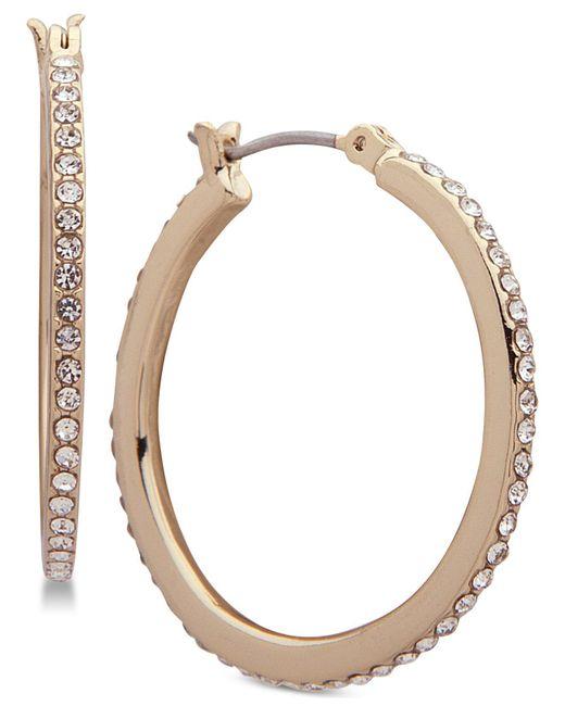 Ivanka Trump - Metallic Gold-tone Crystal In & Out Hoop Earrings - Lyst