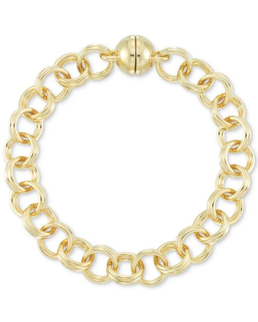 Signature Gold - Metallic Tm Double Link Chain Bracelet In 14k Gold Over Resin - Lyst