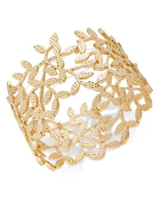INC International Concepts - Metallic I.n.c. Gold-tone Leaf Stretch Bracelet, Created For Macy's - Lyst