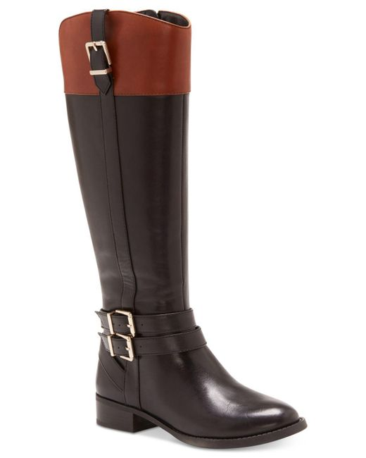 INC International Concepts | Black Women's Frankii Wide-calf Riding Boots | Lyst