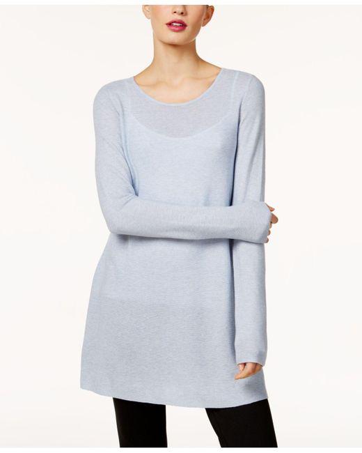 Eileen Fisher | Blue Sweater Tunic | Lyst