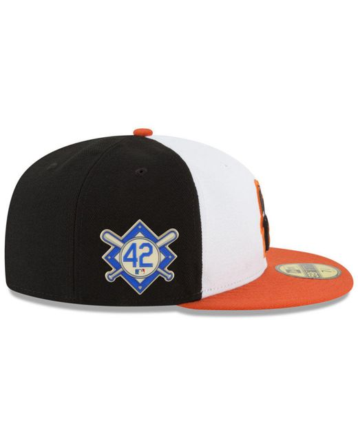 best sneakers 3035b 3c6d3 ... purchase ktz multicolor baltimore orioles jackie robinson day 59fifty  fitted cap for men lyst 5efbf d9cae