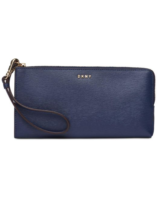 DKNY - Blue Bryant Medium Zip Pouch, Created For Macy's - Lyst