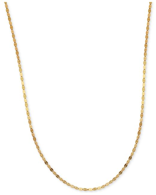 Macy's - Metallic Polished Fancy Link Chain Necklace In 14k Gold - Lyst