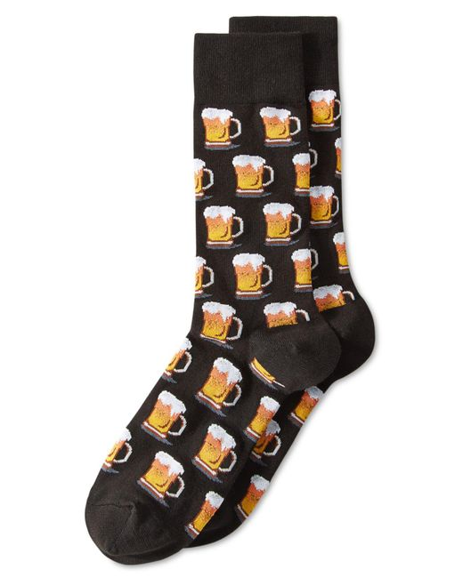 "Hot Sox - Black Men's ""beer"" Socks for Men - Lyst"