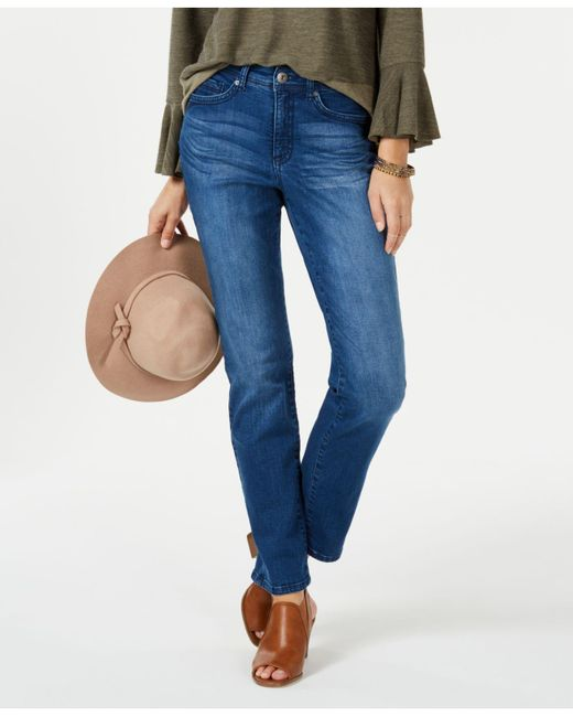 Style & Co. - Blue Petite Tummy-control Jeans, Created For Macy's - Lyst