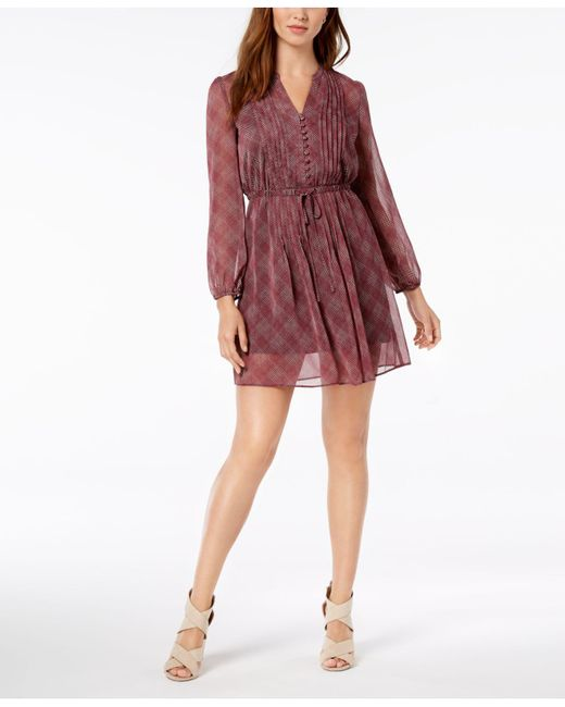Maison Jules - Red Printed Fit & Flare Dress, Created For Macy's - Lyst