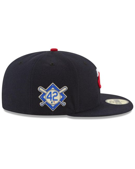 new concept 65fca 3e3f9 ... KTZ - Blue Minnesota Twins Jackie Robinson Day 59fifty Fitted Cap for  Men - Lyst ...