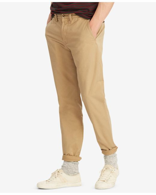 Polo Ralph Lauren - Natural Straight Fit Chino Pants for Men - Lyst