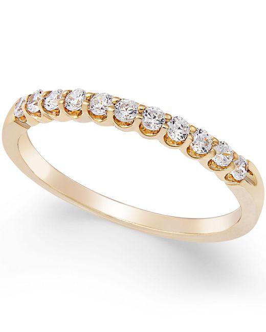 Macy's - Metallic Diamond Scalloped Ring (1/4 Ct. T.w.) In 14k Gold - Lyst