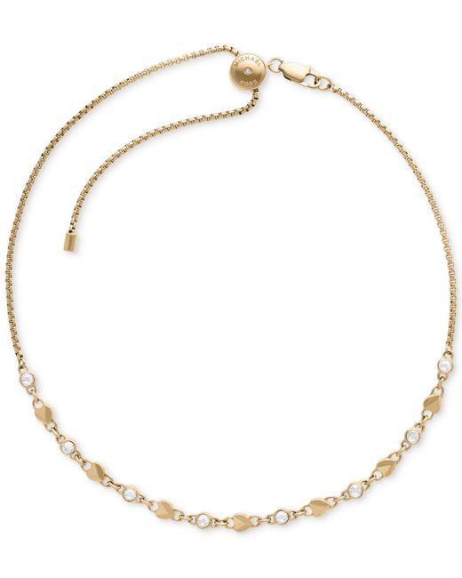 Michael Kors - Metallic Pavé & Heart Link Choker Necklace - Lyst