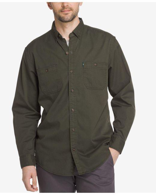 G.H. Bass & Co. | Green Men's Stretch Twill Shirt for Men | Lyst