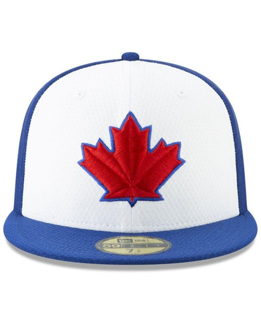 info for 5b8b2 b46ca ... KTZ - Toronto Blue Jays Batting Practice 59fifty-fitted Cap for Men -  Lyst ...
