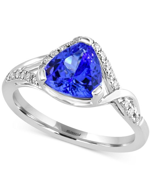 Effy Collection - Metallic Tanzanite Royale By Effy Tanzanite (1-1/2 Ct. T.w.) And Diamond (1/5 Ct. T.w ) Ring In 14k White Gold - Lyst