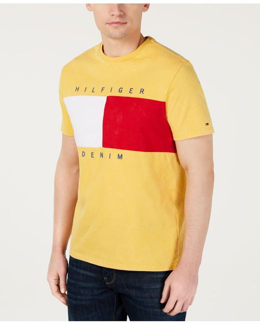 0d5b0ff2406d08 Lyst - Tommy Hilfiger Beason Colorblocked Logo Graphic T-shirt ...
