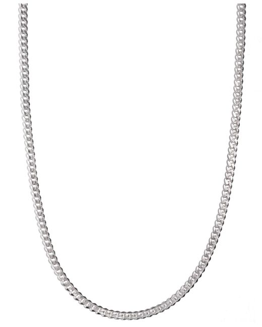 "Macy's - Multicolor Sterling Silver Necklace, 24"" 5-1/2mm Chain for Men - Lyst"