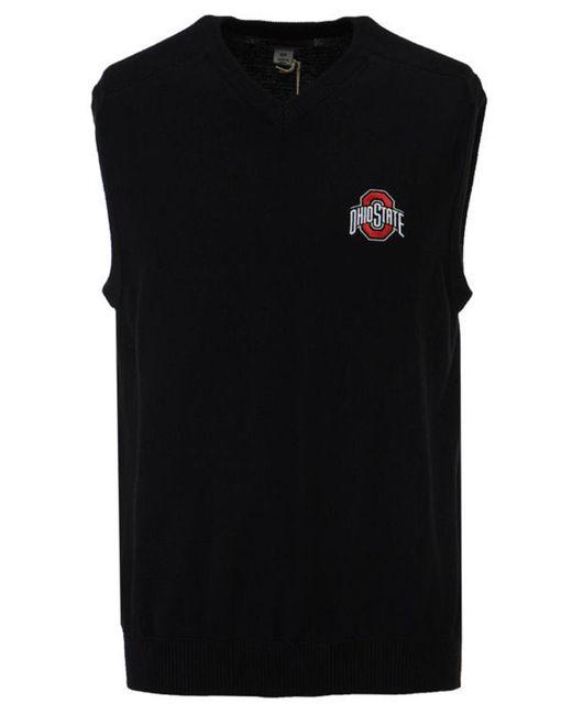 Cutter & Buck - Black Broadview Sweater Vest for Men - Lyst