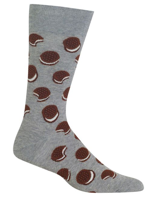 Hot Sox | Gray Men's Sandwich Cookie Socks for Men | Lyst