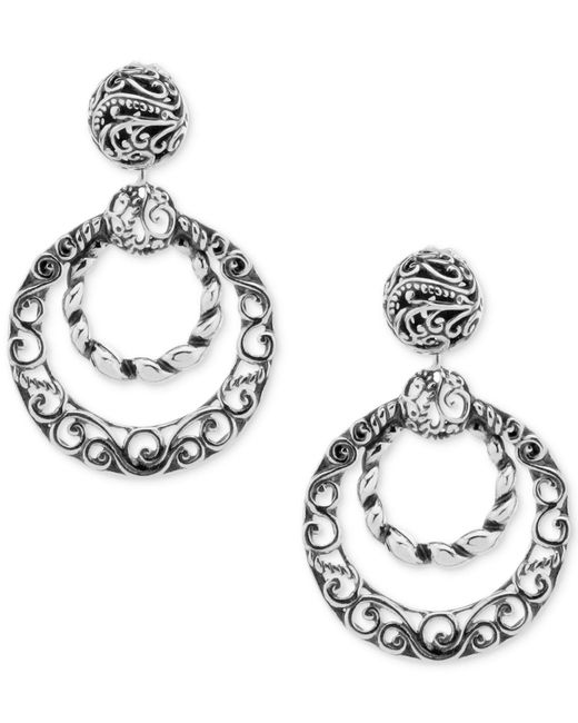 Carolyn Pollack - Metallic Filigree Gypsy Hoop Earrings In Sterling Silver - Lyst