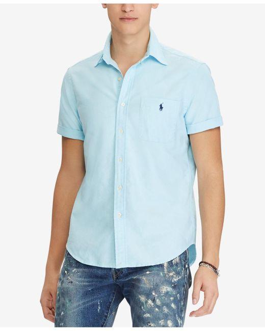 Polo Ralph Lauren - Blue Big & Tall Short-sleeve Classic Fit Oxford Shirt for Men - Lyst