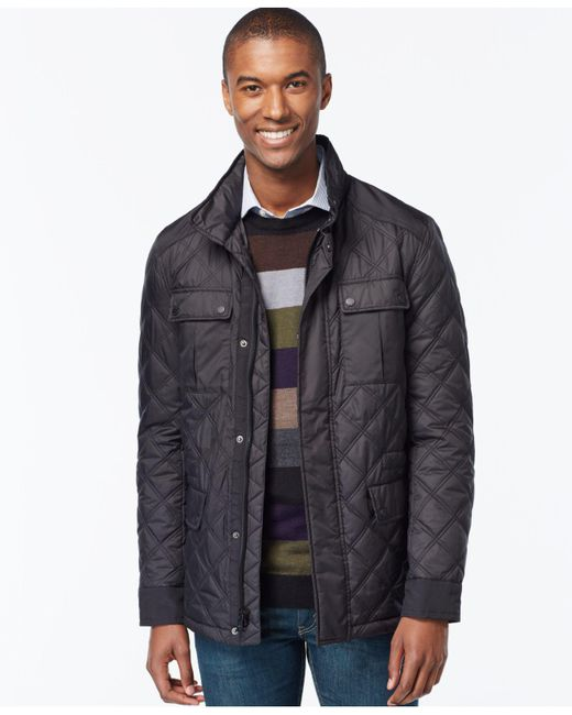 Michael Kors | Black Quilted Filed Coat for Men | Lyst