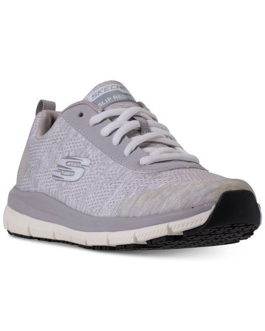 Skechers - Gray Work Relaxed Fit: Comfort Flex Pro Hc Slip Resistant Athletic Sneakers From Finish Line - Lyst