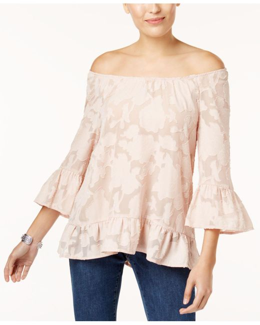 Style & Co. | Multicolor Convertible Burnout Top, Created For Macy's | Lyst