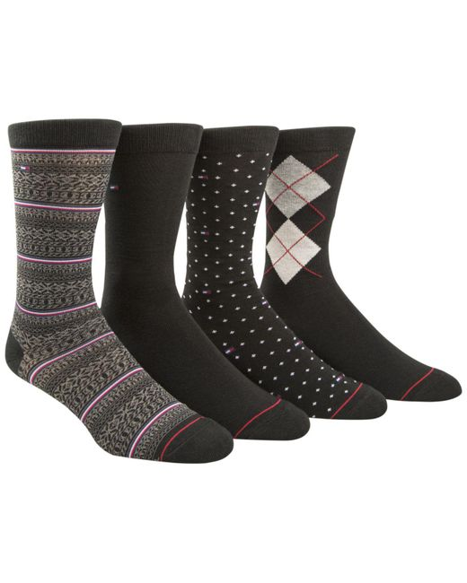 Tommy hilfiger Men's 4-pk. Fair Isle Socks in Black for Men | Lyst