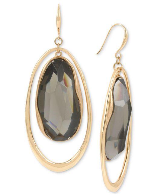 Robert Lee Morris - Metallic Gold-tone Stone Orbital Drop Earrings - Lyst