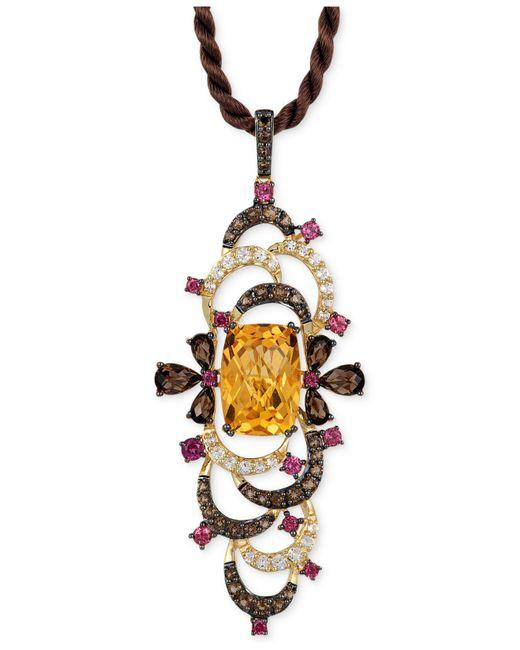Le Vian | Multicolor Multi-stone Pendant Necklace (9-1/2 Ct. T.w.) In 14k Gold | Lyst
