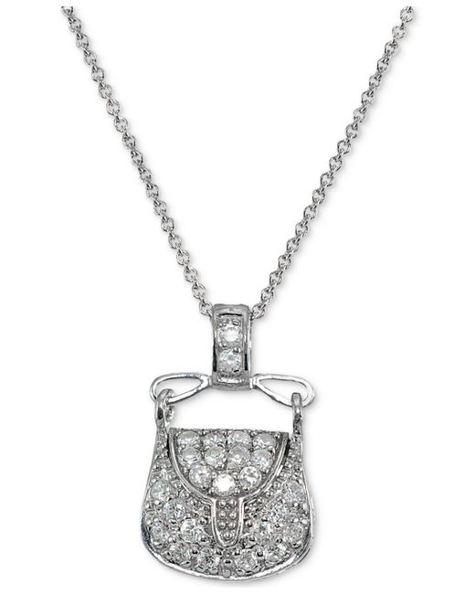 Giani Bernini - Metallic Cubic Zirconia Purse Pendant Necklace In Sterling Silver - Lyst