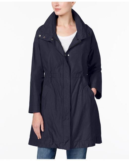 Eileen Fisher | Blue Stand-collar Jacket | Lyst