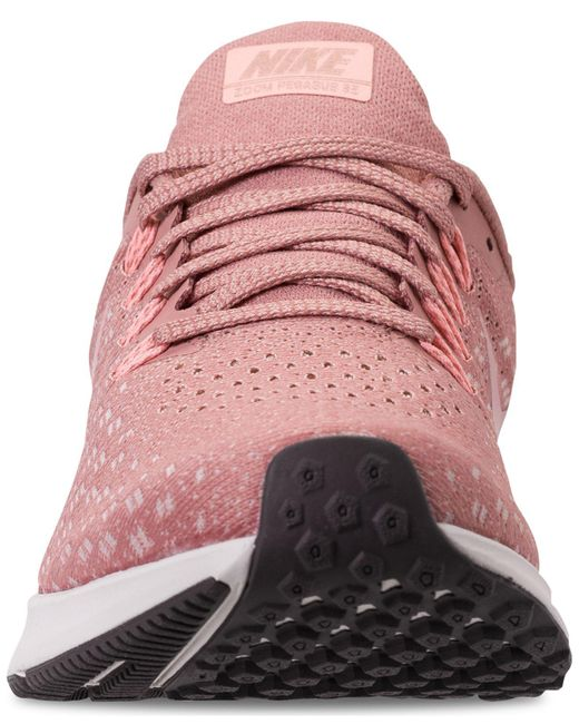 promo code 3714e 639c3 Women's Pink Air Zoom Pegasus 35 Running Sneakers From Finish Line