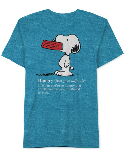 Jem | Blue Hangry Snoopy T-shirt for Men | Lyst
