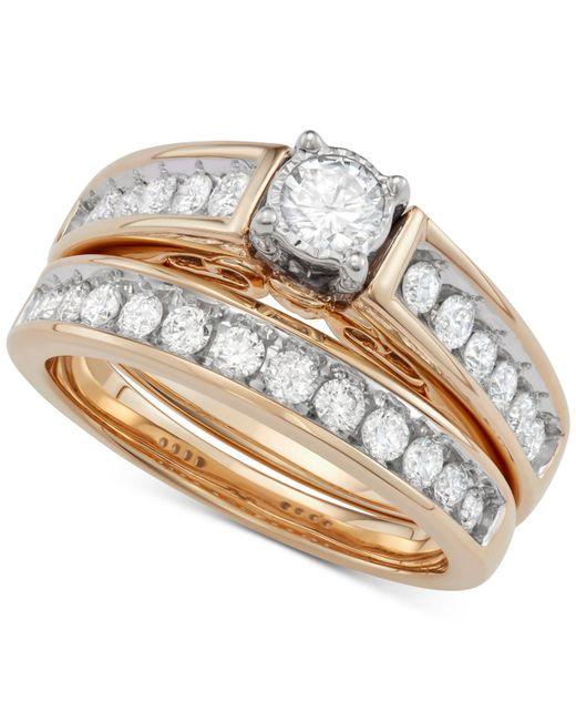 Macy's - Metallic Diamond Bridal Set (1 Ct. T.w.) In 14k Gold - Lyst