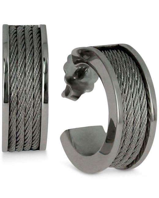 Charriol   Metallic Women's Forever Stainless Steel Cable Hoop Earrings   Lyst