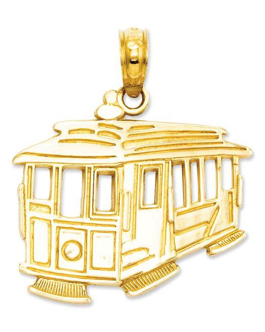Macy's - Metallic 14k Gold Charm, Cable Car Charm - Lyst
