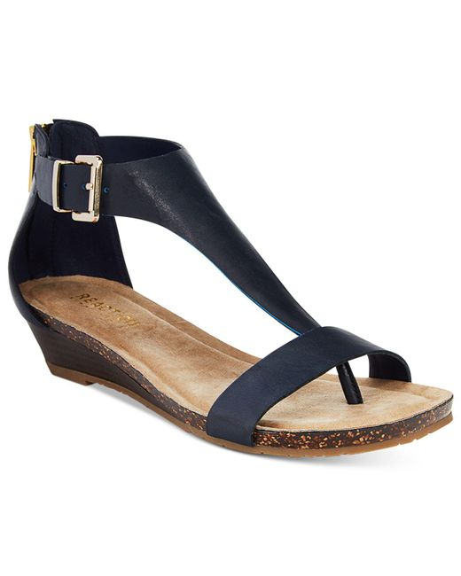 Kenneth Cole Reaction | Blue Great Gal Wedge Sandals | Lyst