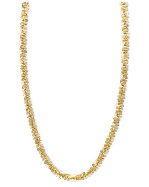 """Macy's - Metallic 14k Gold Necklace, 20"""" Faceted Chain (1-1/2mm) - Lyst"""