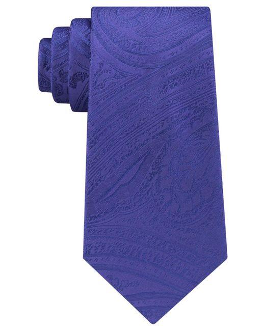 Michael Kors | Blue Men's Lucia Paisley Tie for Men | Lyst