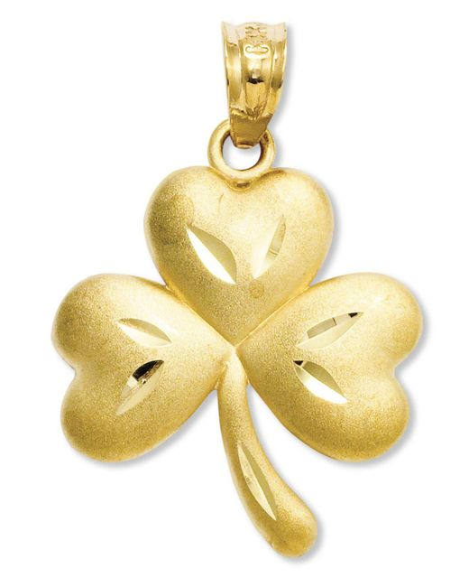 Macy's - Metallic 14k Gold Charm, Shamrock Charm - Lyst