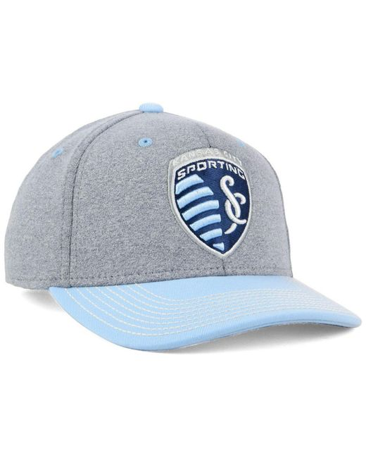 new style 959aa 6ea64 ... uk adidas blue sporting kansas city structure adjustable cap for men  lyst 8a970 a438b