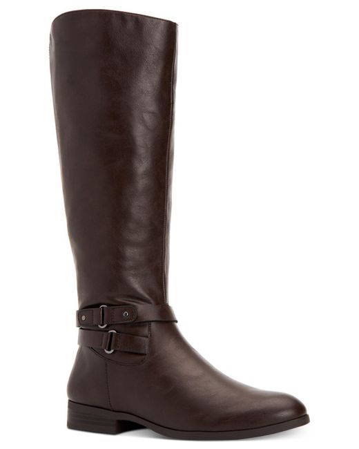 Style & Co. - Brown Kindell Wide-calf Tall Boots, Created For Macy's - Lyst