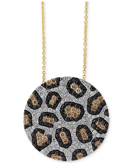 Effy Collection   Metallic Diamond Animal Pattern Pendant Necklace (1-3/4 Ct. T.w.) In 14k Gold   Lyst