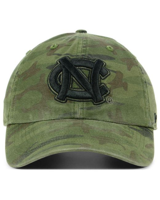b9a7358387b ... 47 Brand - Green North Carolina Tar Heels Regiment Clean Up Strapback  Cap for Men ...